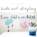 DIY Kids Art Display Sign, Kids Art Gallery Wall, Kids Art, Childs Art Display