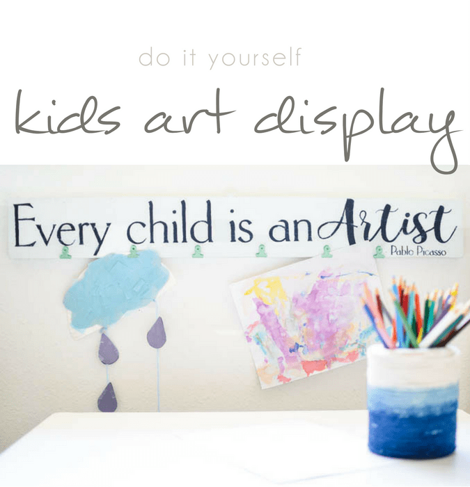 Every child is an artist diy child art display sign pocketful of every child is an artist diy child art display sign pocketful of posies solutioingenieria Gallery
