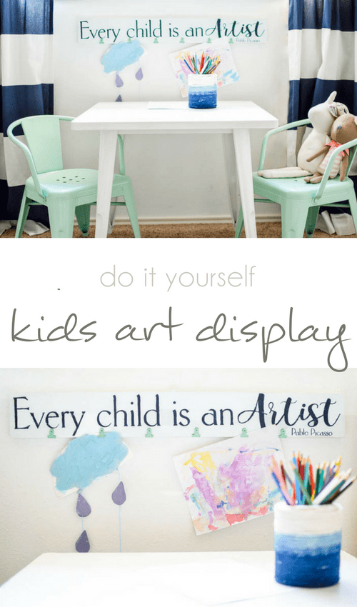 Every child is an artist diy child art display sign pocketful of 5 comments solutioingenieria Gallery