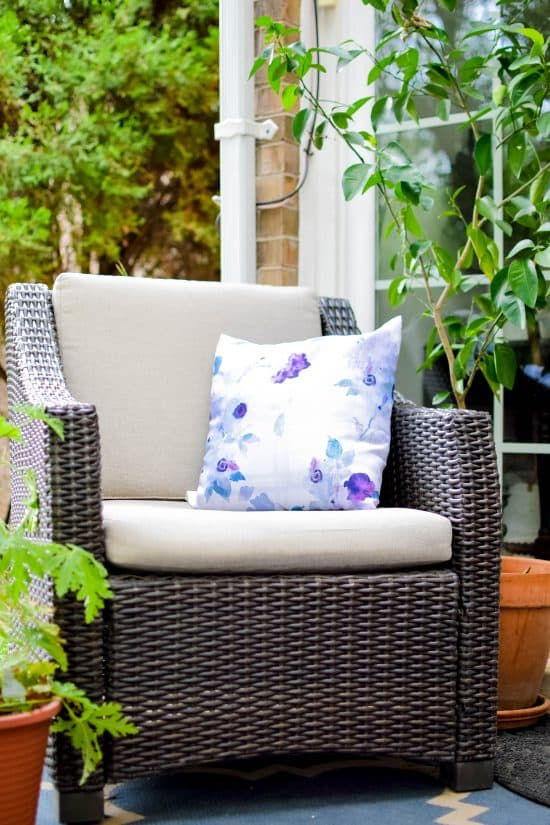 My New 10 Minute Outdoor Pillows Really Helped Dress Up Our Patio Making It  The Perfect Place To Curl Up And Relax This Summer!