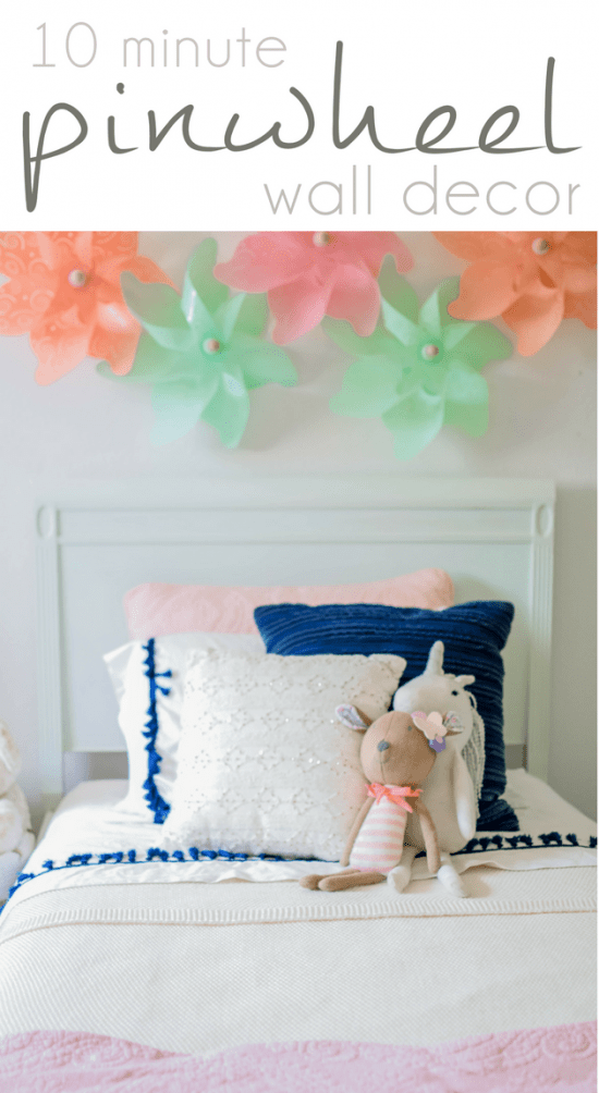 Kids Wall Decor, Kid Rooms, Girls Room, 10 Minute Pinwheel Wall Decor